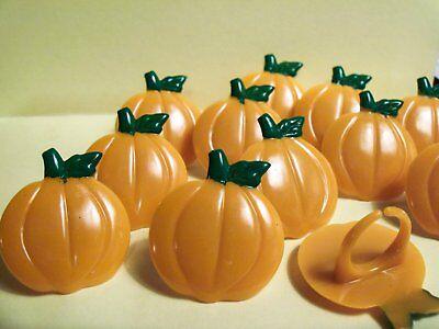 12  Pumpkin Cupcake Ring Topper Halloween Thanksgiving Party decoration](Pumpkin Decorating Cupcakes Halloween)