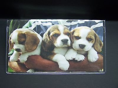 BEAGLE DOG PUPPIES SO CUTE IMAGE VINYL CHECKBOOK COVER