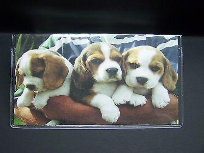 BEAGLE DOG PUPPIES SO CUTE IMAGE VINYL CHECKBOOK COVER