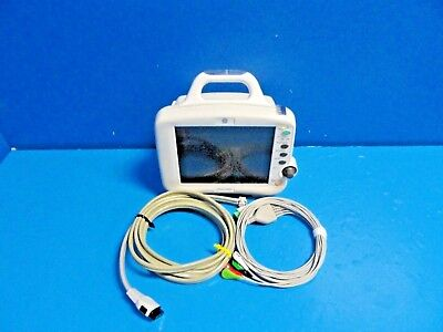 Ge Dash 30004000 V5 Colored Patient Monitor Nbp Spo2 Ecg Tco W 2 Leads16075
