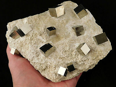 TWELVE! 100% Natural AAA PYRITE Crystal Cubes in BIG Matrix Spain 1844gr e