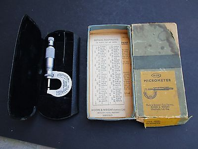 Original Moore and Wright Micrometer No 933B with case and box