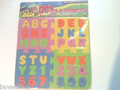 Educational Foam Learn Letters A-Z & Numbers 0-9 Soft Safe & Non-Toxic Puzzle!!