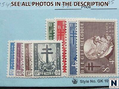 NobleSpirit No Reserve TH2 Excellent BELGIUM No. B547-B554 MH Set 74 CV - $8.27