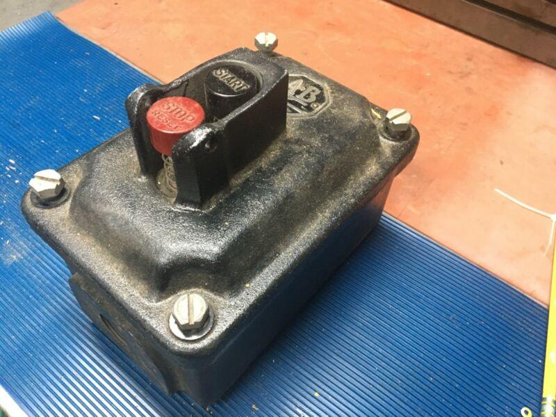 Vintage Allen Bradley 609 Manual Motor Starter Explosion Proof