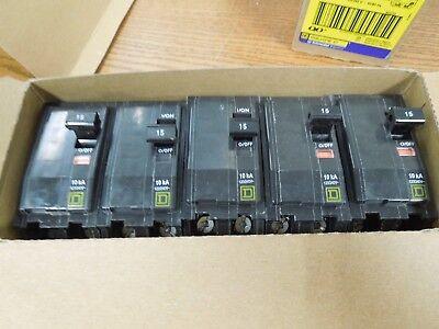 Square D Qo215 15a 2p 240v Clip-on Breaker New Surplus Box Of 5