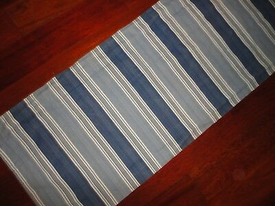 Stripe Blue Tailored Valance - WAVERLY WILLIAMSBURG SPOTSWOOD VALANCE BLUE STRIPE TAILORED VALANCE 15 X 78