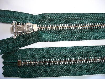 5 Stück Reißverschluß YKK dunkelgrün 24cm lang, nicht teilbar Y111