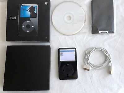 Apple iPod A1136 30GB Portable Music Player with iTunes CD and Box Works Great!