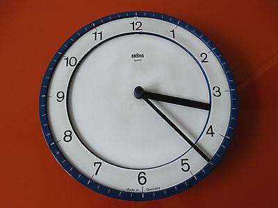 Braun Design ABK 30 Wanduhr Küchenuhr Type 4861 guter Zustand Lubs blau