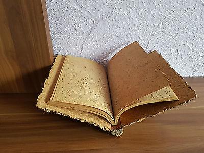 Schreibbuch Korkblätter Notizbuch Korkbaumrinde einmalige Rarität 1972