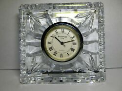 WATERFORD CRYSTAL MINI MANTEL CLOCK. SMALL QUARTZ DESK VINTAGE.NEEDS NEW BATTERY