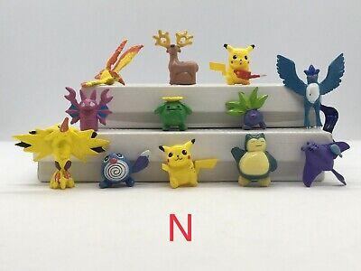 Pokemon Pikachu Action Figures Set of 12 Brand New #N