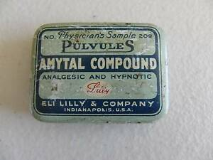 VINTAGE PHYSICIANS MEDICAL ANALGELSIC HYPNOTIC SAMPLE TIN Alberton Port Adelaide Area Preview