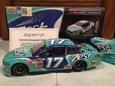 2013 Action Ricky Stenhouse Jr Zest 1/24 Flashcoat Color Autographed 1 of 96