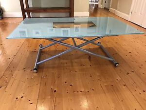 Adjustable Height Glass Table - coffee / card / dining COCO REPUBLIC Lane Cove Lane Cove Area Preview