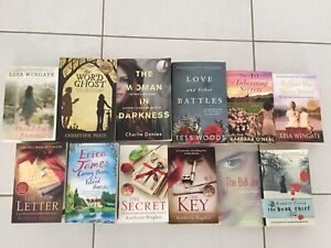 12 X GREAT FICTION BOOKS - $12 THE LOT!