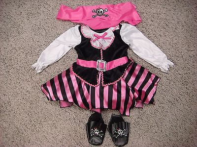 The Cutest little pink pirate costume! High quality! SIZES 3-9 MONTHS AVAILABLE