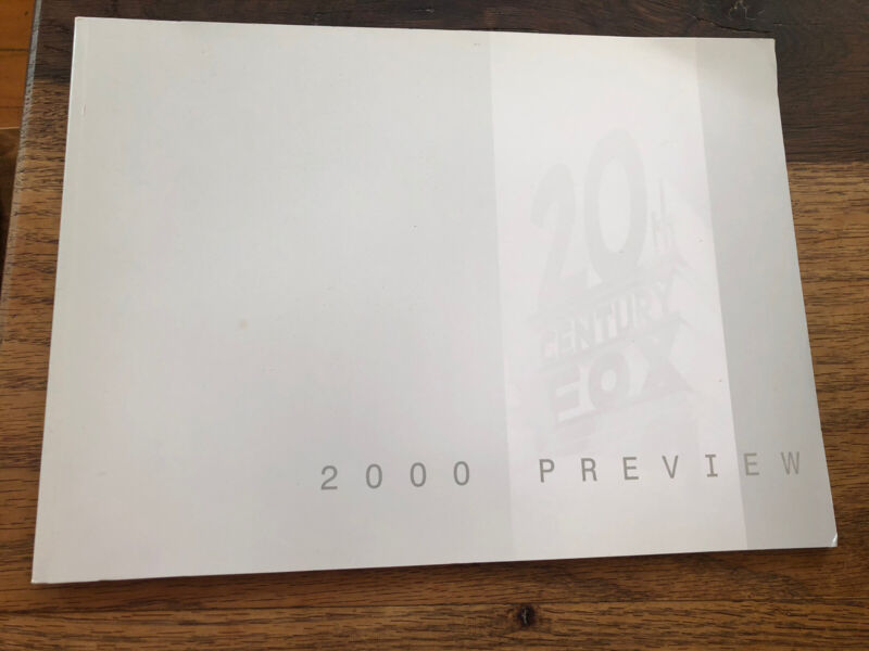20TH CENTURY FOX 2000 MOVIE PRESS  PREVIEW INFORMATION BOOKLET