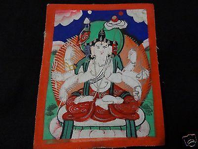 ANTIQUE   MONGOLIAN BUDDHIST THANGKA PAINTING