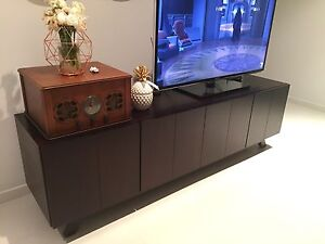 Solid hardwood modern TV unit Revesby Heights Bankstown Area Preview