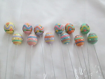 12 pcs.Small Assorted Pastel Easter 1 1/2