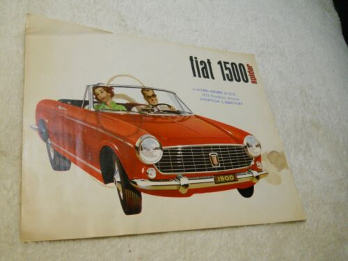 1960s Fiat 1500 Spider 4-page Sales Brochure