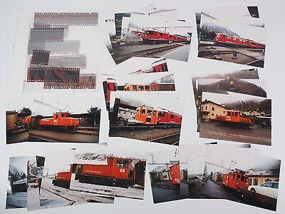 """28 Fotos mit Negativen - 9 verschiedene Lokomotiven der RhB - 1996 """"Xbe05"""