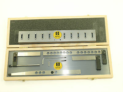 Fowlersylvac4 Piece Holder Set With Stand For Z-cal Ii Height Gage