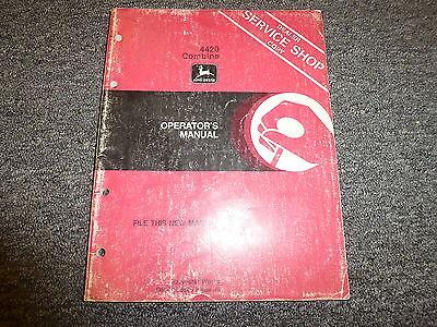 John Deere Model 4420 Combine Owner Owners Operator Manual User Guide Omm105645