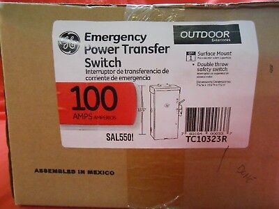 Ge Tc10323r Outdoor Double-throw Emergency Power Transfer Switch 100a- New