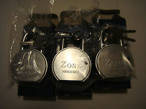 zone high security padlocks keyed to differ x 3 no very high quality