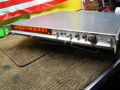 Estate24hr Sale Nixie Tube Systron Donner Frequency Meter Model 6316a Rack Mnt