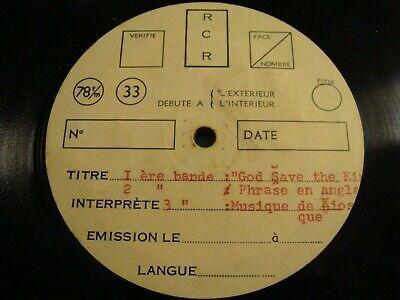"""RARE - 10"""" - 78 RPM - God Save the King + 6 - Matrice de bruitage de film ou TV"""