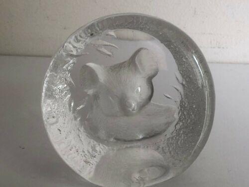 Vintage Mats Jonasson Sweden KOALA BEAR  Art Glass Sculpture Nos. 9175  6 OF  8