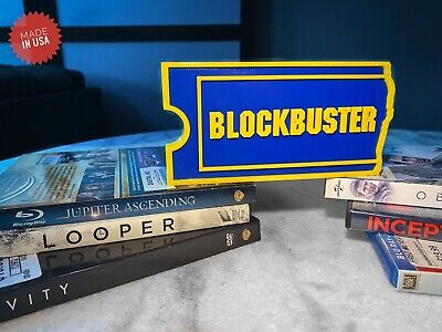 Blockbuster Video Logo Decoration Sign