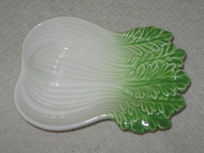"""Vintage Ceramic Bok Choi Bowl ~ Pak Choy Dish 6.5"""" x 4.5"""" Relish Dip or Kimchi"""