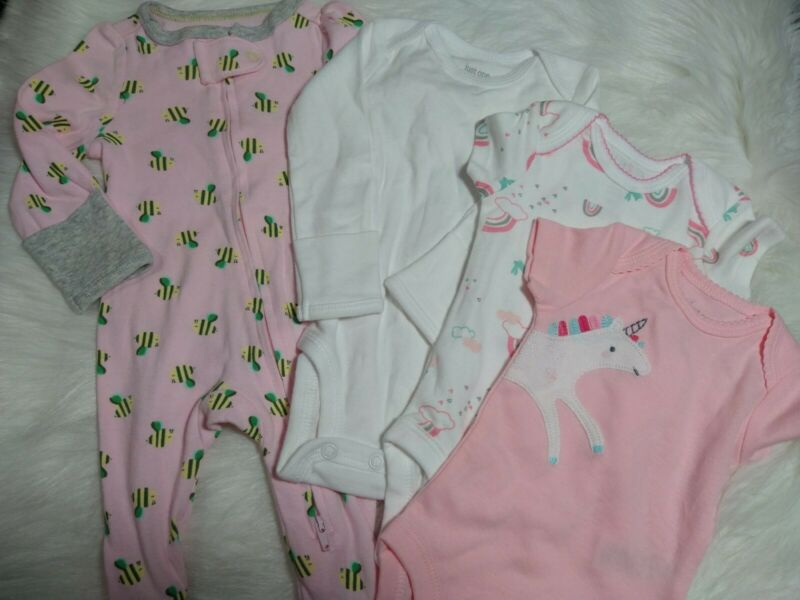4 Piece Lot Of Baby Girl Clothing Nb