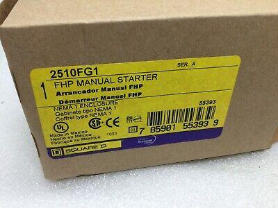 1 Square D 2510fg1 Fhp Manual Motor Starter Switch Nema Type 1 Enclosure