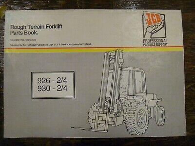 Jcb 926 926-2 926-4 Rough Terrain Forklft Lift Truck Parts Catalog Manual
