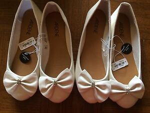 2 Pair New White Shoes Sizes 7 & 8