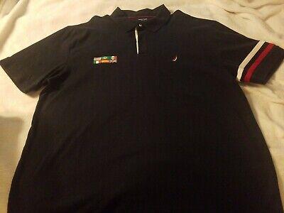 Nautica Men's Slim Fit Vintage International Polo Shirt 3XL Very Rare