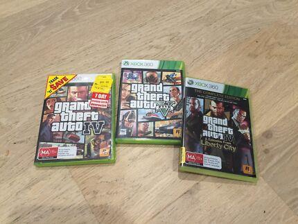 XBOX 360 Grand Theft Auto Games