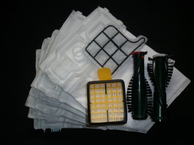Bürsten Filterset 6 Staubsaugerbeutel Vlies geeignet Vorwerk Kobold 135 136