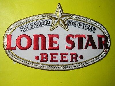 BEER PATCH LONE STAR BEER LARGE BACK SIZE 5 X 8 INCH THIS IS THE BEST ON EARTH!!