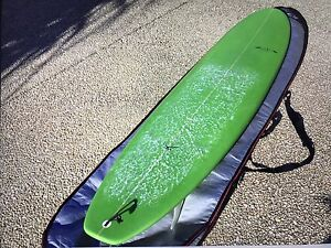 Mini Mal Malibu Surfboard with board cover and fins Coolum Beach Noosa Area Preview