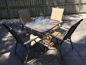 Patio Glass Table&Chaits