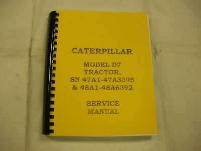 Caterpillar Model D7 Tractor Service Manual
