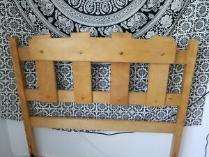 Solid maple headboard and footboard