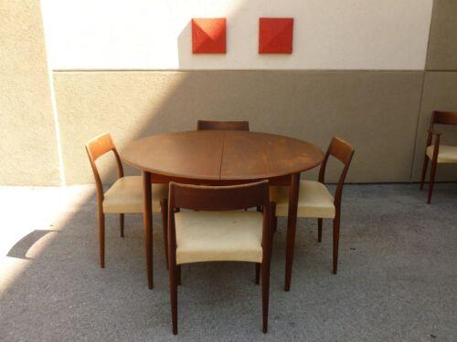 MK MOGENS KOLD DANISH MODERN JOHANNES ANDERSEN DINING ROOM TABLE W 5 CHAIRS